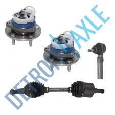 Buy 4 pc Set: Front Right CV Axle + 1 Outer Tie Rod + 2 Wheel Hub Bearing w/ABS; FWD