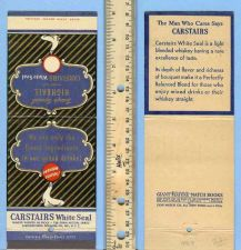 Buy New York New York City Giant Feature Matchcover Carstairs White Seal Blend~9