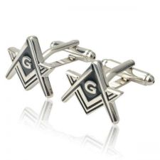 Buy Masonic Silve & Black Cufflinks