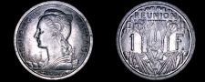 Buy 1948(a) French Reunion 1 Franc World Coin