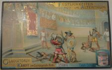 Buy Advertise Liebig Co-Card / Gladiator Scene Late 1800's / Vintage-Good+ Condition