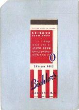 Buy New York Hamburg Matchcover Biehler's Ice Cream & Home Made Candies ny_box~2071