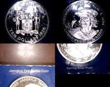 Buy 1975 Jamaican 10 Dollar Proof World Silver Coin - Jamaica Columbus