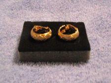 Buy Sarah Coventry Jewelry Basket weave hoop earrings (Golden weave) #1159