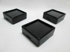 Buy 20 pcs Gem Tool Display Boxes Square Black Boxes + Lids Top Glass 4 x 4 x 1.5 cm
