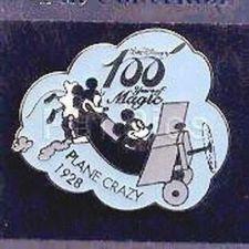 Buy Plane Crazy Mickey Ariplane Pilot Japan authentic Disney 100 Years pin/pins