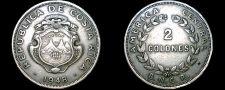 Buy 1948 Costa Rican 2 Colones World Coin - Costa Rica