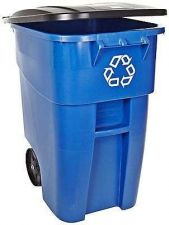 Buy Recycle Bin Large Trash Can Rubbermaid Commercial Container 50 Gallon Rollout