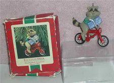 Buy Raccoon Biker Hand Crafted dated 1987 Hallmark Keepsake Ornament