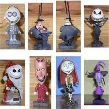 Buy Nightmare Before Christmas tree jack head base 7 ornaments Original box Mint