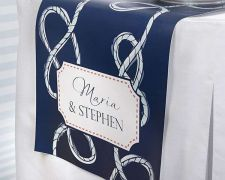 Buy Personalized Table Runner - Nautical Wedding Collection (Multiple Sizes Availabl