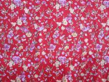 Buy Christmas Tree Skirt,Poinsettia Red Cotton Fabric Fat Quarter 50x 50 cm.Free P&P