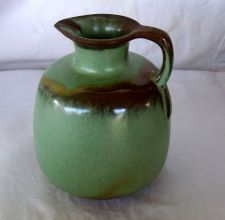 "Buy Frankoma Pottery Pitcher Jug 833 Prairie Green 6"" tall"