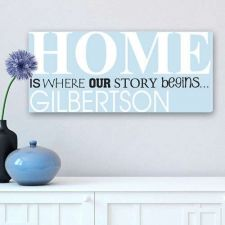 Buy Where Our Story Begins Personalized Canvas Print - Free Personalization