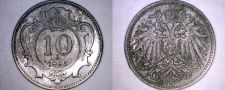 Buy 1895 Austrian 10 Heller World Coin - Austria