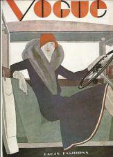 Buy Vogue 1929 Cover Print Car Fashion Fur Coat Art Deco 1984 original print