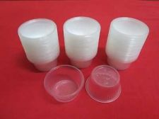 Buy 100 x 1oz Disposable Cup Cake Plastic Cups Container No Lid Jelly Sample Portion