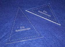 "Buy 2 Piece Set Kaleidoscope 8"" Templates Acrylic 1/8"" thick. Quilting/Sewing"