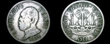 Buy 1908 Haitian 50 Centimes World Coin - Haiti