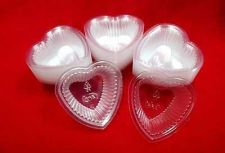 Buy 100 Small Disposable Jelly Cups Plastic Heart Shape Squeezable NO LID 0.3 oz