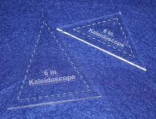"Buy 2 Piece Set Kaleidoscope 6"" Templates Acrylic 1/8"" thick. Quilting/Sewing"