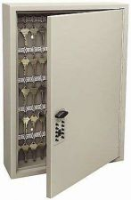 Buy Lock Box Storage Steel Safe Security Key Cabinet 60 Keys Wall Hook Valet Office