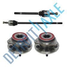 Buy FRONT Driver And Passenger CV Axleshafts + 2 Wheel Hub Bearing Assembly 4x4