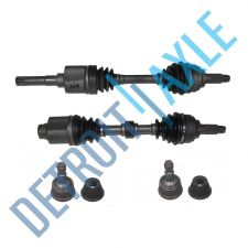 Buy 4 pc Set Front Driver, Passenger CV Axle Shaft, 2 Lower Ball Joint - A.T. 4 Cyl.
