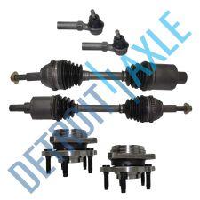Buy 6 pc Set - 2 Front CV Axle Shaft + 2 Ready Strut Assembly + 2 Outer Tie Rod