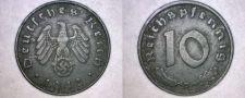 Buy 1942-D German 10 Reichspfennig World Coin - Germany 3rd Reich