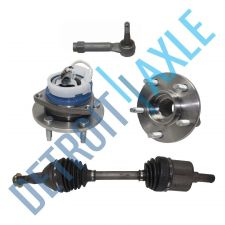Buy Front Right CV Axle Shaft + 2 Wheel Bearing Assembly w/ ABS + 1 Outer Tie Rod