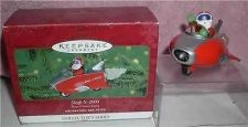 Buy Santa Clause Handcrafted space mobile sleight X-2000 Hallmark ornament