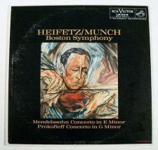 Buy MENDELSSOHN / PROKOFIEFF ~ Heifetz / Munch Boston Symphony Classical LP