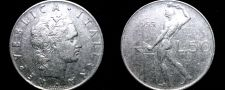 Buy 1955 Italian 50 Lire World Coin - Italy