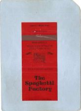 Buy New York Buffalo Matchcover The Spaghetti Factory 140 Allen St ny_box4~2484