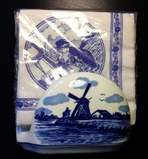Buy Delft of Holland Napkin Holder With Napkins Delft Blauw