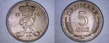 Buy 1964 Danish 5 Ore World Coin - Denmark