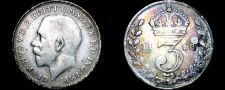 Buy 1918 Great Britain 3 Pence World Silver Coin - UK