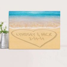 Buy Personalized Couples Canvas Prints - Free Personalization