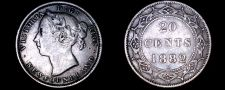 Buy 1882-H Newfoundland 20 Cent World Silver Coin - Canada