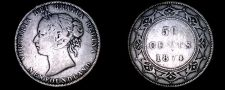 Buy 1874 Newfoundland 50 Cent World Silver Coin - Canada