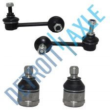 Buy 2 Front Driver and Passenger Lower Ball Joint + 2 Sway Bar Link Suspension Kit