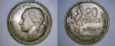 Buy 1950-B French 20 Franc World Coin - France