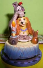 Buy Disney Lady & Tramp Bella Note Ornament Figurine