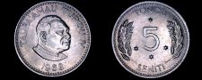 Buy 1968 Tonga 5 Seniti World Coin