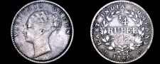 Buy 1840 Indian 1/4 Rupee World Silver Coin - British India