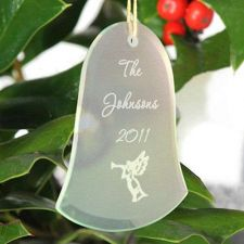 Buy Beveled Glass Ornament-Bell Shaped - 15 Design Choices - Free Personalization