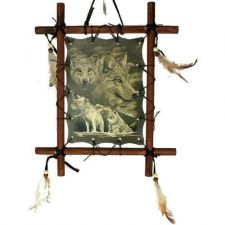 Buy Framed Indian Picture - Wolf (Dream Catcher)