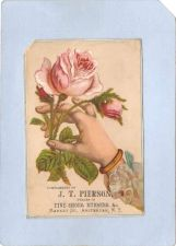 Buy New York Amsterdam Victorian Trade Card J. T. Pierson, Market Street~61