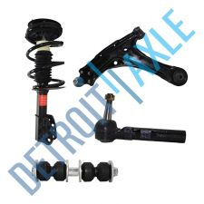 Buy Front Left Ready Strut + Control Arm & Ball Joint + Sway Bar Link + Tie Rod End
